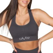 Gavelo Booster Sports-bra, Gun Metal