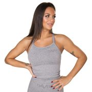 Gavelo Seamless Ribbed Tank, Light Grey