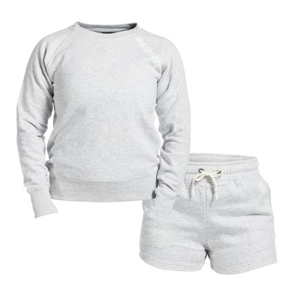 Cosy Set Wmn, Light Grey Melange