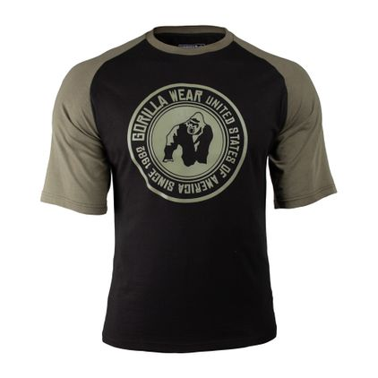 Gorilla Wear Texas T-Shirt, Black/Army Green