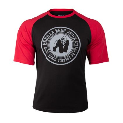 Gorilla Wear Texas T-Shirt, Black/Red