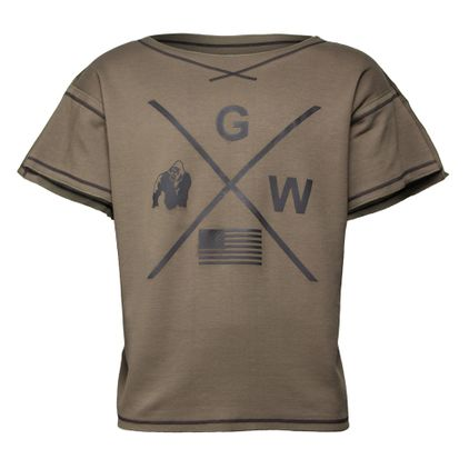 Gorilla Wear Sheldon Work Out Top, Army Green