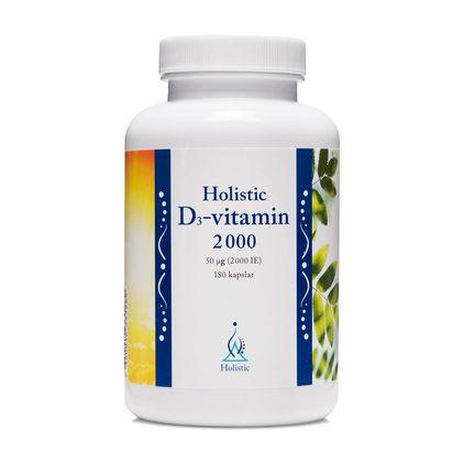 Holistic D3-Vitamin, 180 kapslar