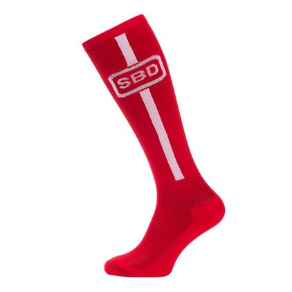 SBD Deadlift Socks, Red/White