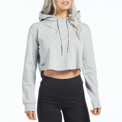 Clarissa Cropped Hoodie, Grey
