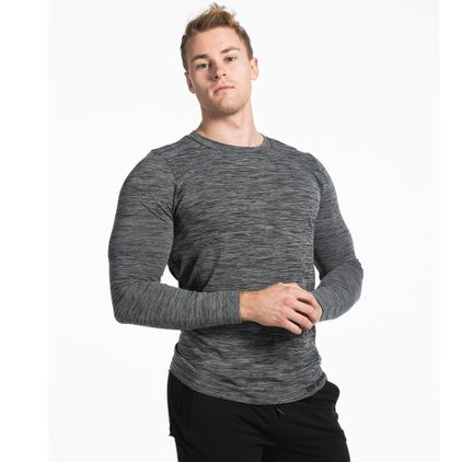 Seamless Colin L/S T-shirt, Grey Melange