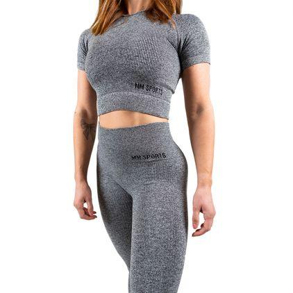 Seamless Cropped T-shirt, Grey